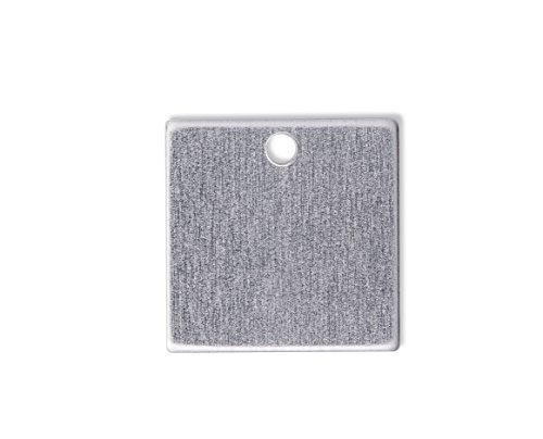 Square Stamping Blanks - RMP Stamping Blanks, 3/4 Inch Square W /Hole, Aluminum .063 Inch (14 Ga.) - 50 Pack