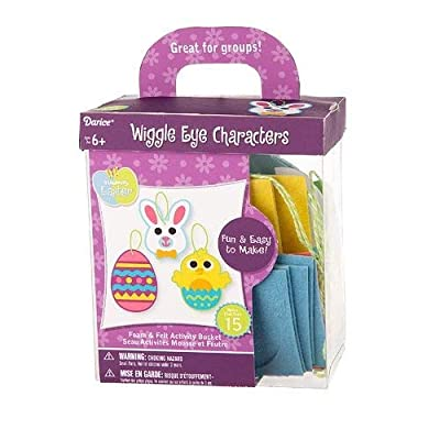 Darice Foam Easter Kit: Wiggle Eye Characters, Makes 15: Office Products