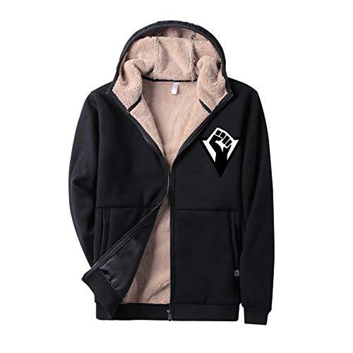 Cappotto Con Detroit Tasche Stampate Lunga Sweatshirt Girocollo Human Become Unisex Casual Moda Invernale Autunno Black13 Semplice Manica ZdOqq
