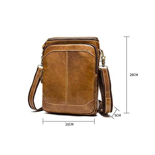Shoulder 02 Bag Outdoor Haixin Business Man Fashion Brown Bag Leisure Leather Single Messenger Travel Xn1Cq