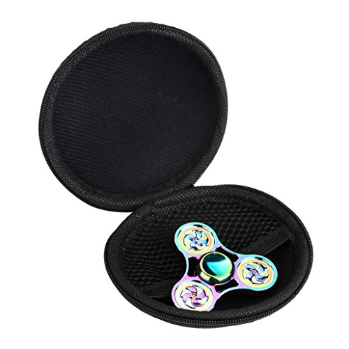 Price comparison product image EKIMI Camo Box Case For Hand Spinner EDC Fidget Spinner Focus Gyro Toy, Dustproof and Delicate (Black)