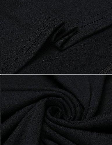Les Femmes Soteer Blouse Ample À Manches Longues De L'épaule Ourlet Irrégulier Haut Chemise Noire