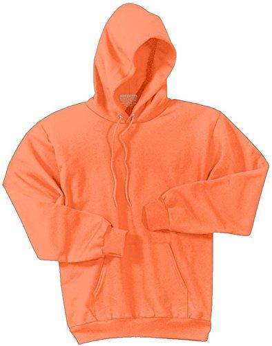 Joe's USA Bright Neon Orange Hooded Sweatshirts - Hoodie Sizes Youth XS - Adult 4XL