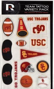 Multicolor Rico NCAA Southern California Southern Cal Tattoo Variety Pack Sports Fan Home Decor One Size