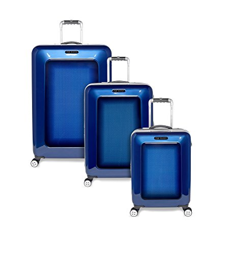 Ted Baker Luggage Herringbone 3-Piece Spinner Set (One Size, Navy) by Ted Baker