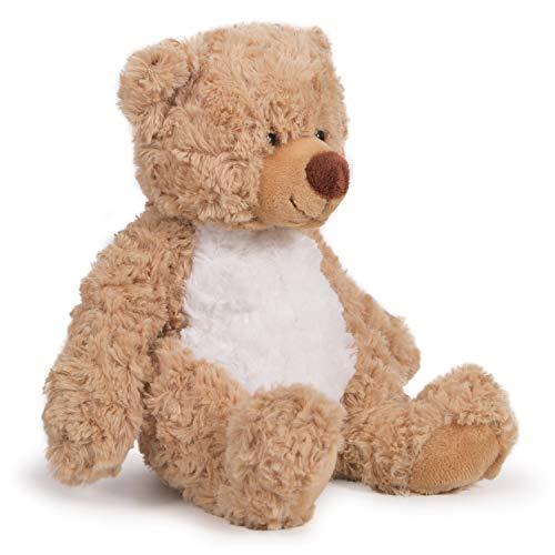 "Kangaroo Your Baby 1st Teddy Bear – Stuffed Animal – Plush 12"" Tan Bear with Brown Bow"
