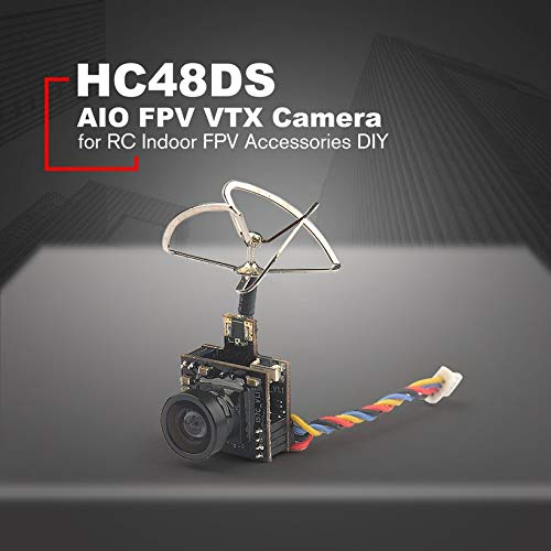 Wikiwand HC48DS Mini FPV 600TVL Camera 48CH 25MW 100MW Switchable AIO FPV VTX Cam by Wikiwand (Image #1)