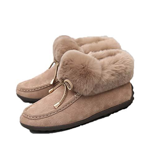 ムートンブーツ レディースシューズ ショート丈 ファー付き タッセル レディース おしゃれ 秋冬 ブーツ モカシン 防寒 裏起毛 暖かい インヒール 2.5cm ヒール 滑り止め TPR 歩きやすい コンフォート 冬 ブーツ