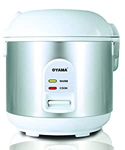 Amazon.com: Oyama CFS-F10W 5 Cup Rice Cooker, Stainless