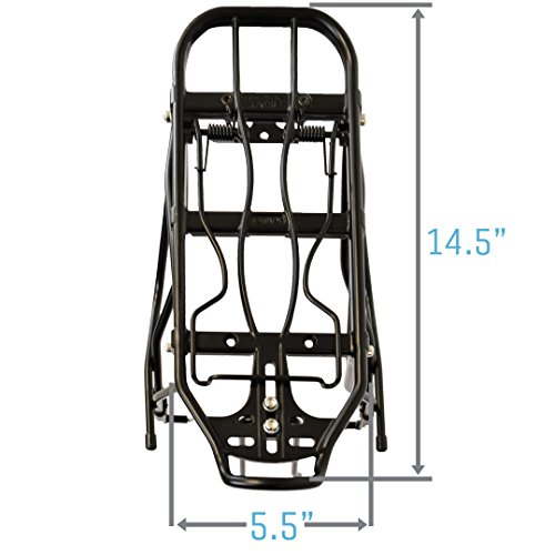 Lumintrail Bicycle Rear Frame Mounted Cargo Rack for Disc Bikes Height Adjustable Commuter Carrier by Lumintrail (Image #7)