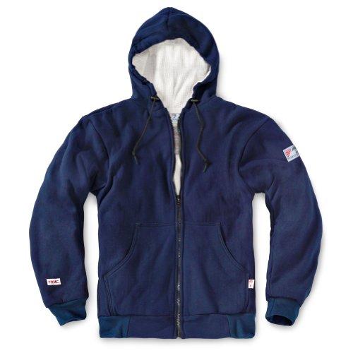 Tyndale Premium Hooded Lined Zip-Front FR Sweatshirt XLarge Navy Blue