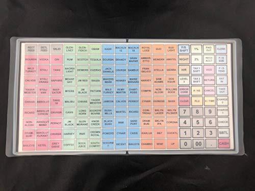 SAM4S ER-5200M, SPS-520FT, SPS-530FT, SER-7000 / Flat Keyboard Cover Silicone Skin Cash Register Protective WetCover Overlay