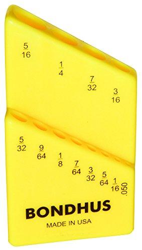 Bondhus 18036 Bondhex Color Coded Case Holds 12 Tools, 0.05