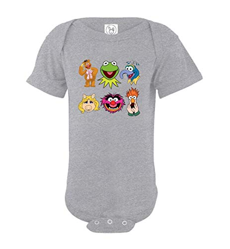 The Muppets Animals Face Bodysuit Baby Boys Girls Grow NB 6 12 18 24 Month Onesies
