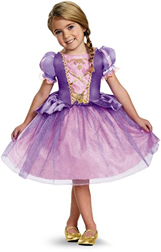 [Disguise 82914M Rapunzel Toddler Classic Costume, Medium (3T-4T)] (Halloween Dress For Toddler)