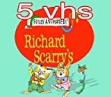 fully animated richard scarry's set 5vhs: Richard Scarry's Best Silly Stories and Songs Video Ever!, Richard Scarry's Best Sing-Along Mother Goose Video Ever!, The Busy World of Richard Scarry - Practice Makes Perfect , The Busy World of Richard Scarry - The Best Birthday Party Ever, Richard Scarry's Best Counting Video Ever!
