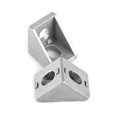 10 Pcs L Shape Corner Bracket Right Angle Brace Fastener Aluminum Alloy 20 × 20mm