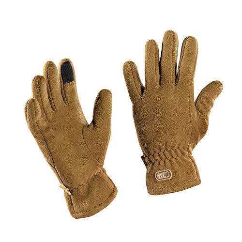 Winter Insulated Gloves - Tactical Fleece Gloves - Military Cold Weather Gloves (Coyote, L)