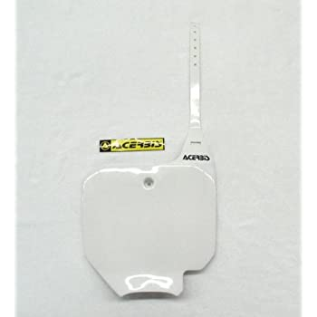 Acerbis 03-07 Honda CR85 Front Number Plate White