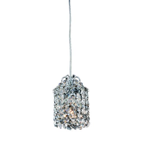 Allegri Lighting 11763-010-FR1TZ Millieu 1-Light Mini-Pendant with Clear Firenze and Topaz Crystals, Chrome Finish