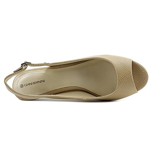 Giani Bernini Kvinnor Blankaa Peep Toe Slingback Klassiska Pumpar Neutral Sand
