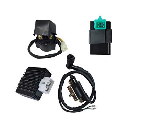 (Hity Motor 5 PIN AC CDI Box Ignition Coil Solenoid Relay Voltage Regulator for 50cc 70cc 90cc 110cc 125cc Chinese ATV Roketa Taotao Coolster Jonway SunL Dirt Bike and Go Kart)