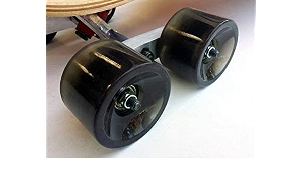 Red Tandem Axle Wheel Kit Set for Skateboard Cruiser Longboard Penny Truck