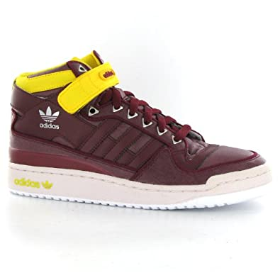 new concept affc8 5a235 Adidas Forum Mid Cardinal Red Mens Trainers  Amazon.co.uk  Shoes   Bags