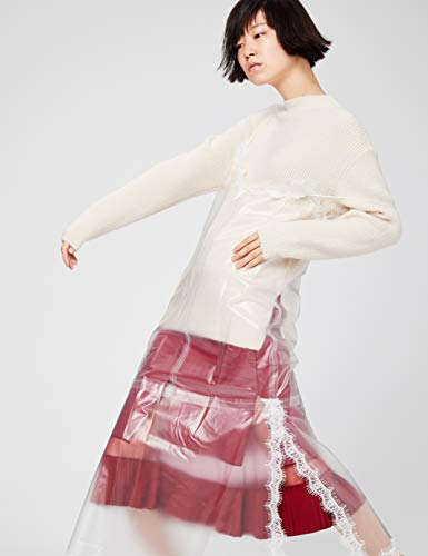 Calvin Klein Women's Sleeveless Round Neck Fit and Flare Dress, black, 14