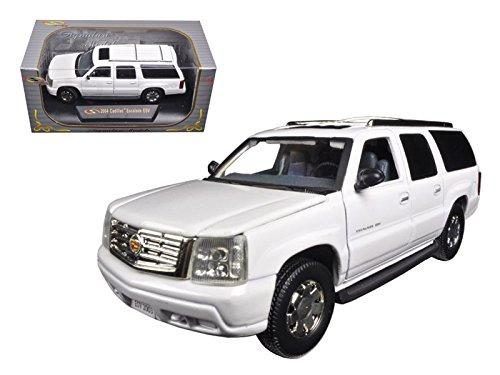 2004 Cadillac Escalade ESV Pearl White 1/32 Diecast Car Model by Signature Models 32343w