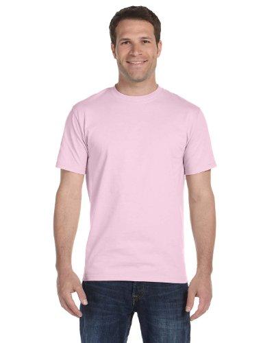 Hanes Mens TAGLESS ComfortSoftCrewneck T-Shirt,Pale Pink,XLarge