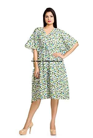 Short Kaftan dress Hippy Boho Maxi, Plus Size Women Caftan