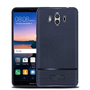 Huawei Mate 10 Leather Skin Pro TPU Case Cover - Blue.