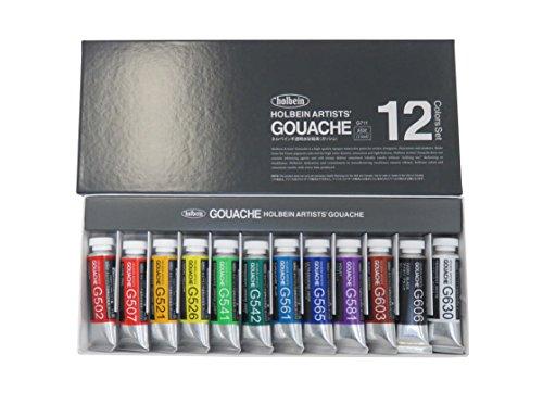 《홀베인》 HOLBEIN 불투명 수채 그림도구 물감 구아슈 GOUACHE 12 색세트 G711 15ml(5호)