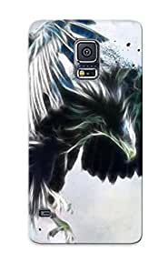 Freshmilk Top Quality Rugged Birds Animals Fractalius Eagles Illustrations Artwork Case Cover Deisgn For Galaxy S5 For Lovers