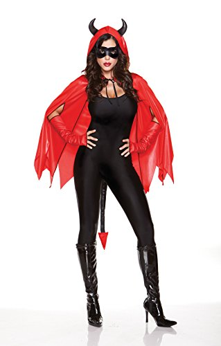 [Wicked Delights Cape Kit] (Devil Halloween Costumes For Women)