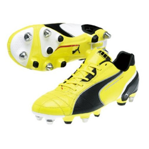 King Spirit SG Mixte - Chaussures de Football Jaune Vif/Noir/Argent