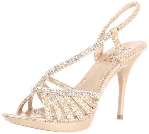 - Sizzle by Coloriffics Women's Danube Platform Sandal,Nude,10 M US