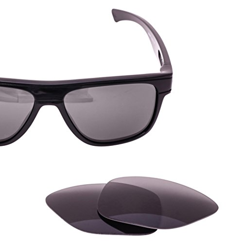 LenzFlip Replacement Lenses Oakley BREADBOX Sunglass- Gray Black Polarized - Scratched Oakley Lenses