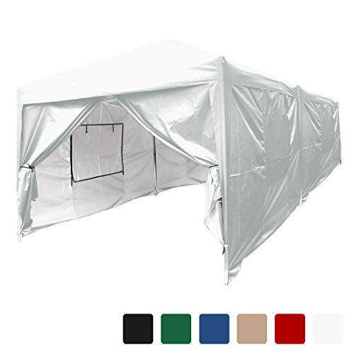 Quictent privacy 10×20 Feet Mesh Curtain EZ Pop Up Party Tent Canopy Gazebo 100% Waterproof-6 Colors (White)
