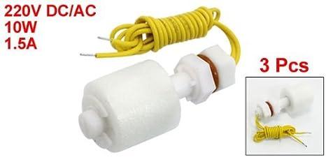 eDealMax 3 PC ZP4510 líquido del agua del sensor de nivel de plástico PP flotante interruptores de flotador - - Amazon.com