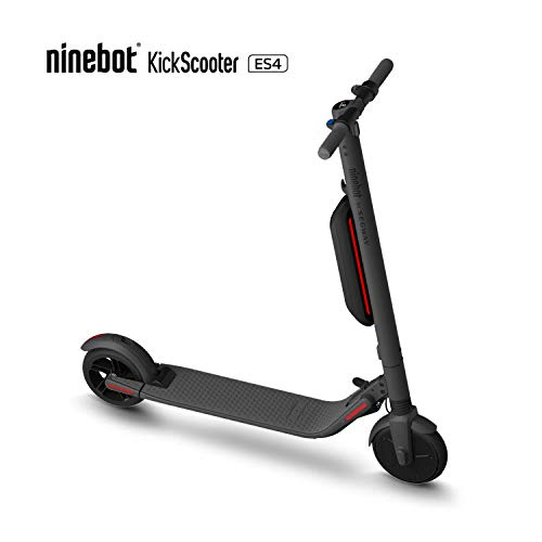 Segway Ninebot ES4 Folding Electric Kick Scooter with Second Battery, Dark Grey (2019 Version)