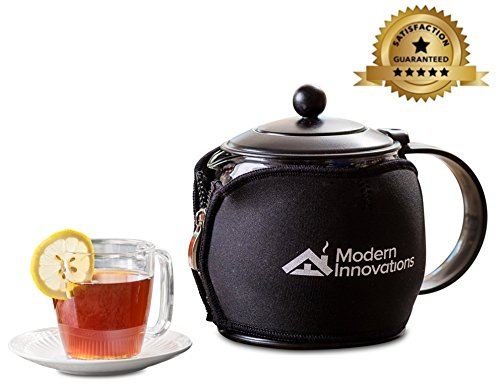 Teapot with Infuser for Loose Tea Includes Tea Warmer