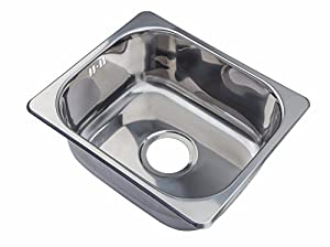 Small Steel Inset Single Bowl Kitchen Sink (A11 mr): Amazon.co.uk ...