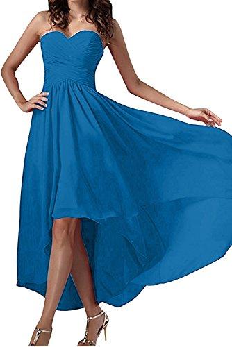 Festkleid Chiffon Blau Damen Ballkleid Abendkleider Einfach Herzform Ivydressing Partykleid ZX6xF
