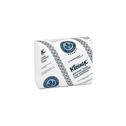 Kimberly-Clark Kleenex deolux Scottfold toallas de papel, blanco, 120/paquete,