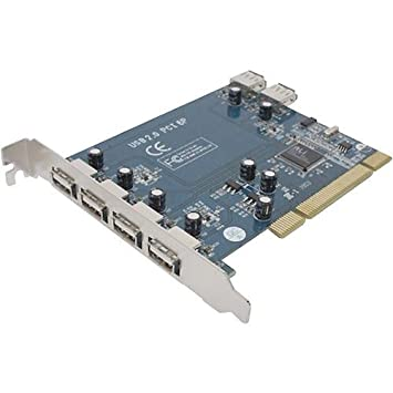Amazon.com: 6 Port tarjeta PCI USB 2.0: Computers & Accessories