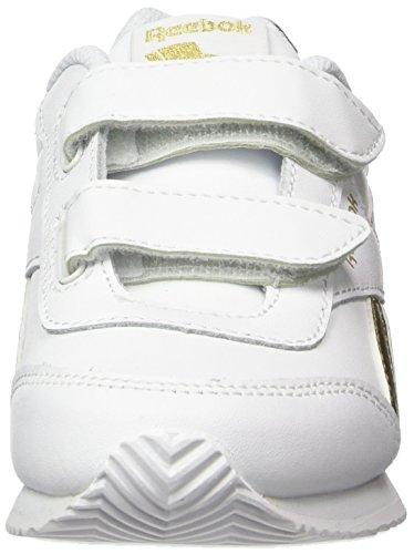 Reebok Royal Classic Jogger 2 2v - Zapatillas de Entrenamiento Unisex Niños blanca oro
