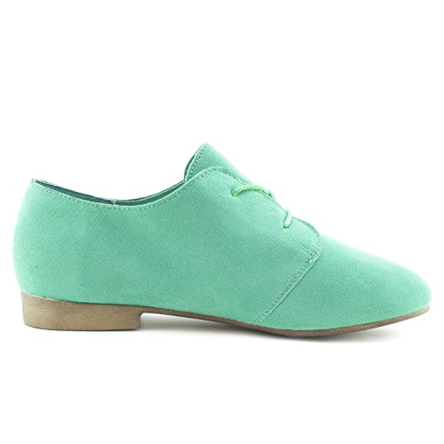 Suede Shoes Up Mint Link Flat Womens Lace Adults Faux Oxford qxw01IwC