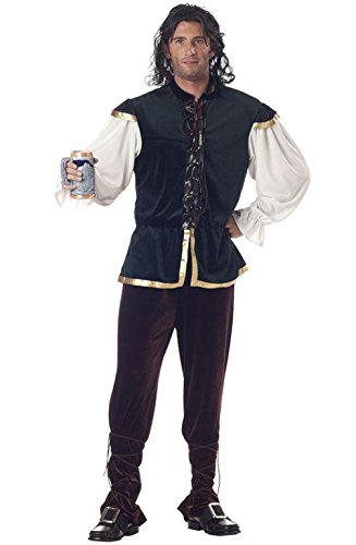 [Mememall Fashion Adult Tavern Man Renaissance Medieval Costume] (Wicked Jester Deluxe Adult Mens Costumes)